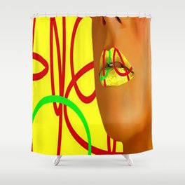 Lips clycle of life Shower Curtain