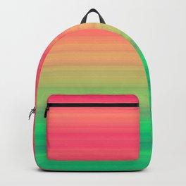 Tropical stripes Summer pattern Backpack