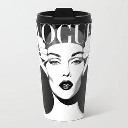 VOGUE FASHION COVER,Vogue Posters,Vogue Prints,Vogue Patterns,Black And White,Fashion Decor,Modern H Travel Mug