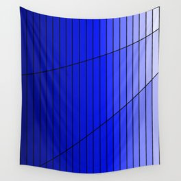 Blue Gradient Pattern Design Wall Tapestry