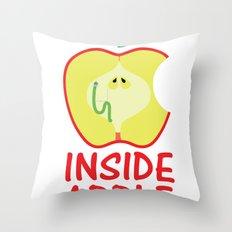 INSIDE APPLE Throw Pillow