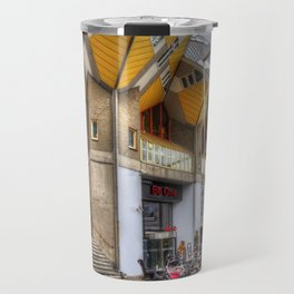 The Cube Houses In Rotterdam, Europa Travel Mug