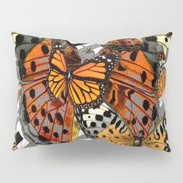 MODERN BUTTERFLY ORANGE-YELLOW  ART Pillow Sham