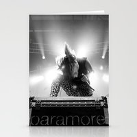 hayley williams Stationery Cards featuring Hayley Williams by Ethan Luck