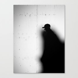 Captured by Shadow Canvas Print