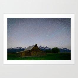 MORMON ROW NIGHT GRAND TETON NATIONAL PARK WYOMING LANDSCAPE PHOTOGRAPHY Art Print