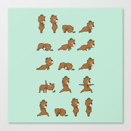 Yoga Bear Canvas Print
