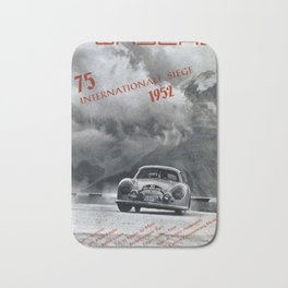 Vintage 1952 Racing Poster Bath Mat