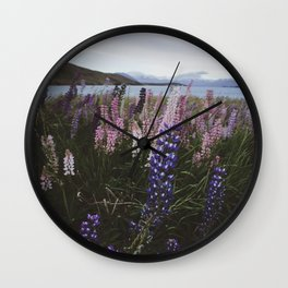 Wildflower Landscape Wall Clock