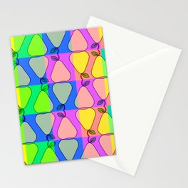 Colorful pears Stationery Cards