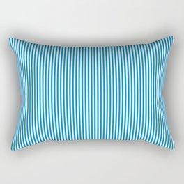 Blue Pinstripes Rectangular Pillow