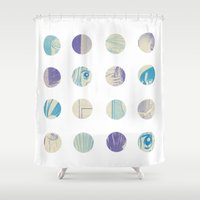 matrix Shower Curtains featuring Manga Matrix by TWOSOME