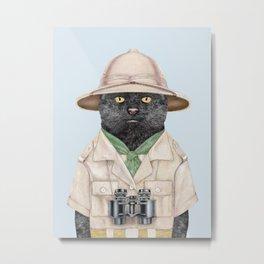 Safari Cat Metal Print