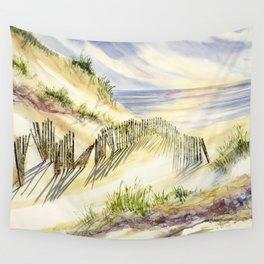 Shoreline Dune Shadows  Wall Tapestry