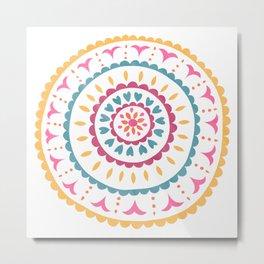 Suzani inspired floral 2 Metal Print