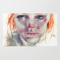 ginger Area & Throw Rugs featuring my eyes refuse to accept passive tears by agnes-cecile