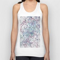 austin Tank Tops featuring Austin map by MapMapMaps.Watercolors