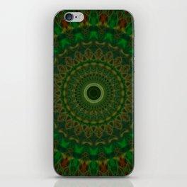 Green Mandala of Hope iPhone Skin