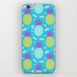 Tropical Memphis Pineapples iPhone Skin