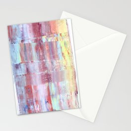 Rainbow Abstract Art Stationery Cards