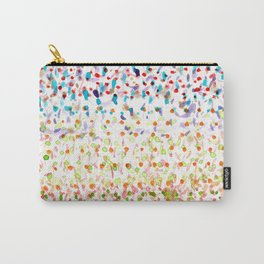 Striped Piled Dots Pattern Carry-All Pouch