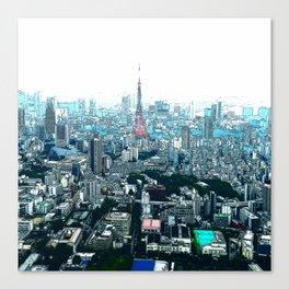 My Love - Tokyo Tower Skyline Canvas Print