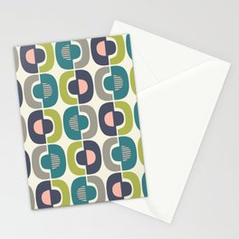 Retro Mid Century Modern Pattern 343 Stationery Cards