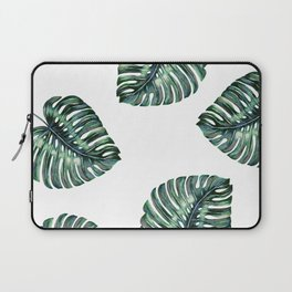 Split Leaf Philodendron Watercolor Laptop Sleeve