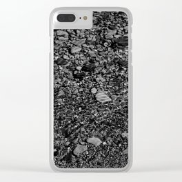 shale shock, black and white Clear iPhone Case