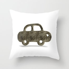Forged old car Throw Pillow