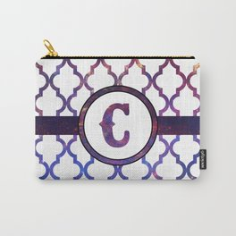 Galaxy Monogram: Letter C Carry-All Pouch