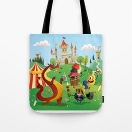 the medieval adventure Tote Bag