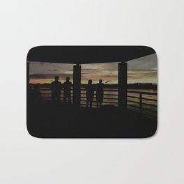 Human Silhouettes - Sunsets at The Fly series Bath Mat