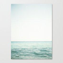 Blue French Sea Canvas Print