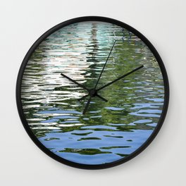 Colorful Reflections Abstract Wall Clock