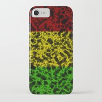 rasta iPhone & iPod Cases featuring Electric Rasta by organicdreams