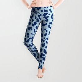 Pastel Blue Leopard Print Leggings