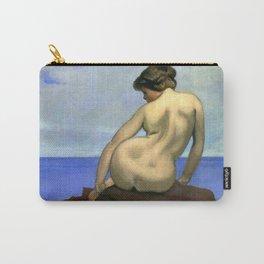 "Félix Vallotton ""Femme assise sur un rocher (Woman sitting on a rock)"" Carry-All Pouch"