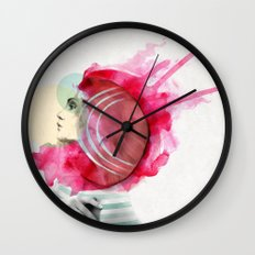 Bright Pink Wall Clock