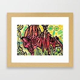 art fear painting Framed Art Print