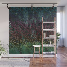 Lit Patterned Wall Mural