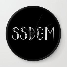 SSDGM white text on black Wall Clock