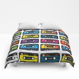 Vintage audio tape Comforters