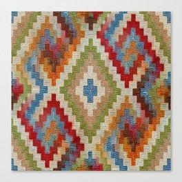 kilim rug pattern Canvas Print