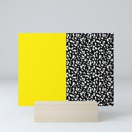 Memphis Black and Yellow 80s Pattern Mini Art Print