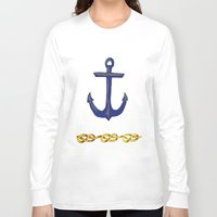 nautical Long Sleeve T-shirts featuring Nautical by DesignSam