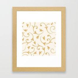 Baroque Design – Gold on Cream Framed Art Print