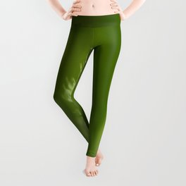 Green Plant Leggings