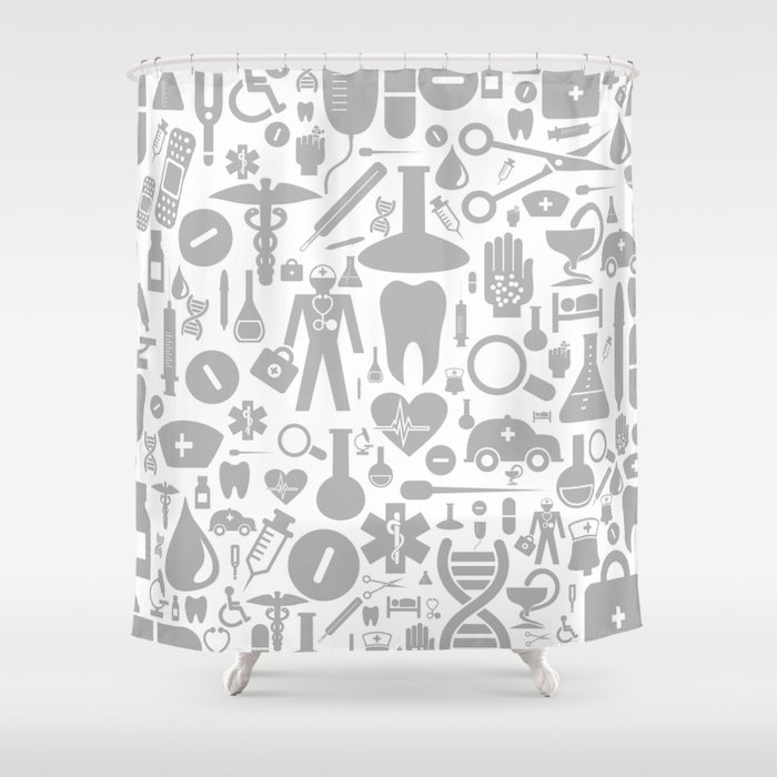 Medical Background Shower Curtain By Aleksander1