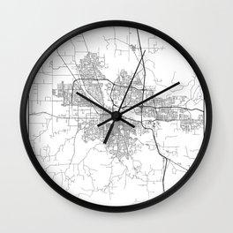 Minimal City Maps - Map Of Eugene, Oregon, United States Wall Clock